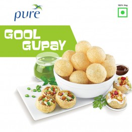 Panipuri (Gol Gappa) - Ready to Fry Panipuri - Plain without Masala - 100 gm